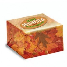 Box with Leaf Wrapping Paper